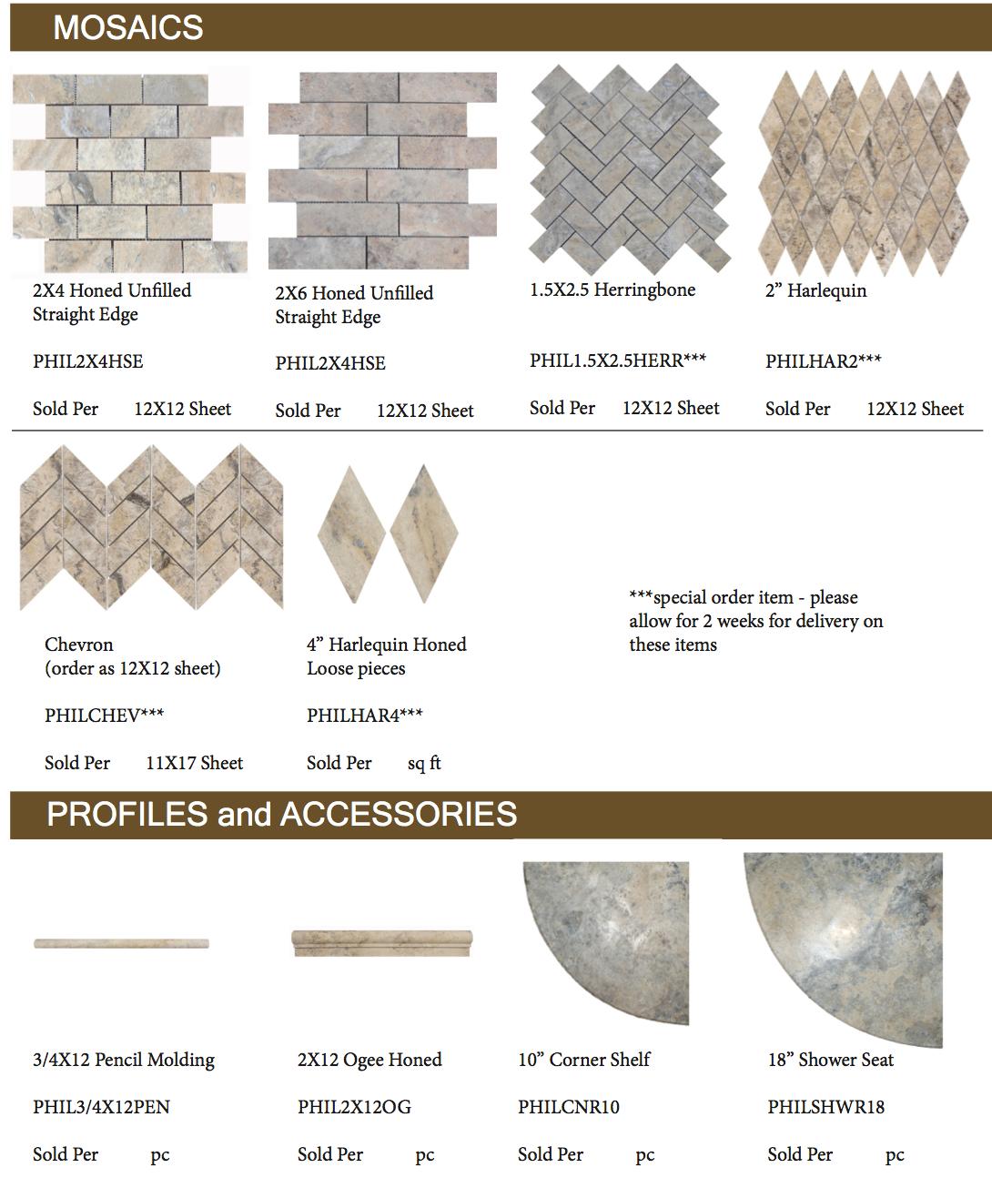 Philadelphia-Travertine-Mosaics-Profiles-and-Accessories