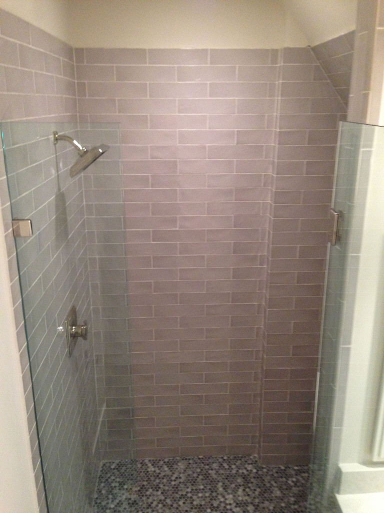 Mosaic Shower Floor Tile Installation